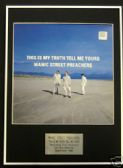 MANIC STREET PREACHERS  Framed LP Cover - THIS IS MY- -